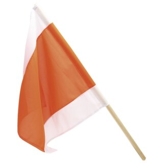 Warnflagge weiß/orange/weiß , 50 x 50 cm